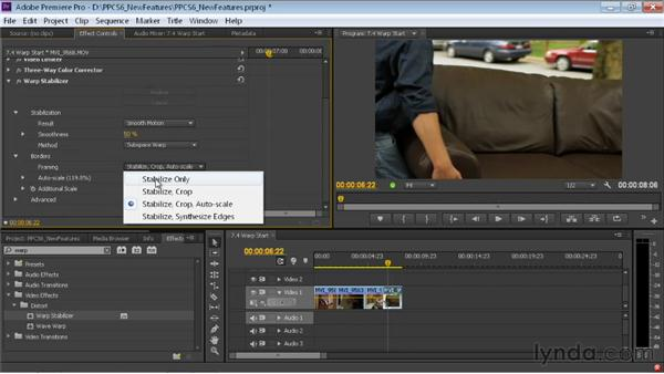 Stabilizing footage with the Warp Stabilizer effect: Premiere Pro CS6 New Features