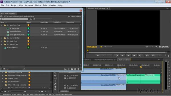Exploring new audio track functionality: Premiere Pro CS6 New Features