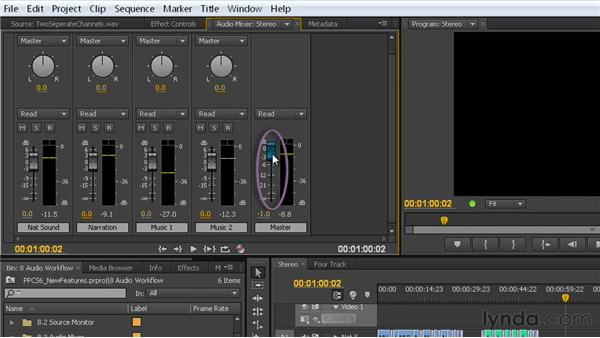 An easier way to use the Audio Mixer: Premiere Pro CS6 New Features