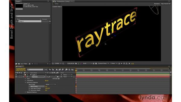 Extruding and beveling geometry: After Effects CS6 New Features