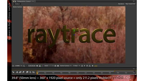 Using environment maps: After Effects CS6 New Features
