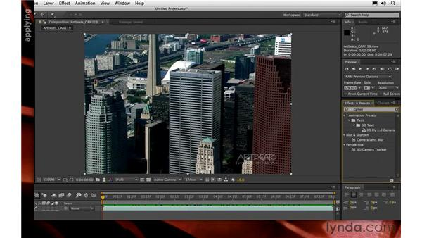Performing an initial 3D track: After Effects CS6 New Features