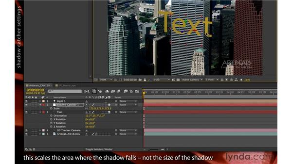 Working with shadow catchers: After Effects CS6 New Features
