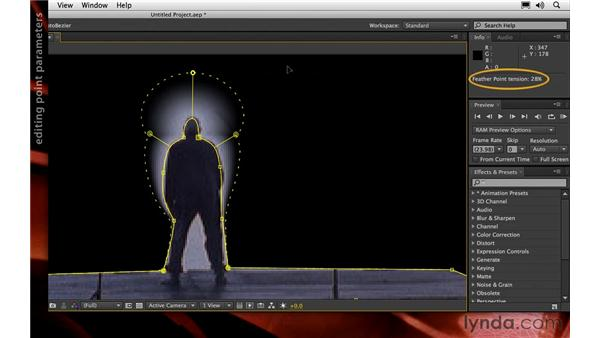 Variable-width mask feathering: After Effects CS6 New Features
