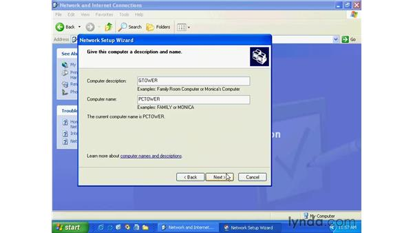 local area networks: Windows XP Essential Training
