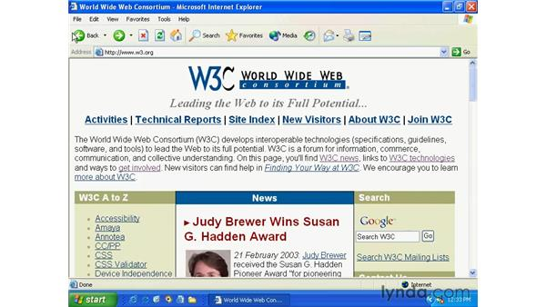 internet explorer: Windows XP Essential Training