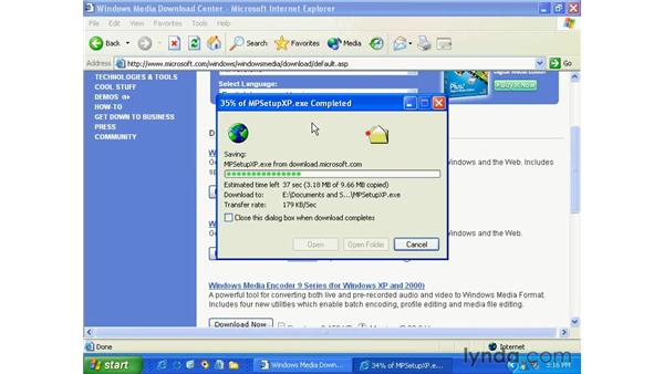 get media player 9: Windows XP Essential Training