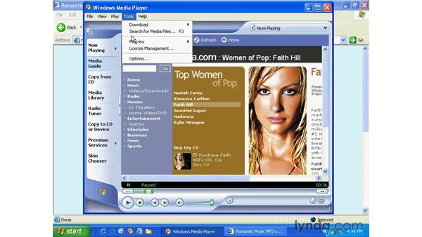 using media player 9: Windows XP Essential Training
