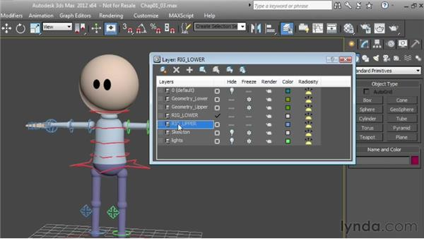 Using layers to select characters: Character Animation: 3ds Max