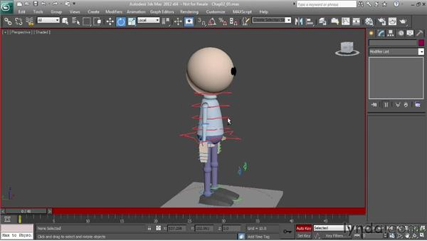 Refining the animation: Character Animation: 3ds Max