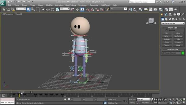 Keyframing initial poses: Character Animation: 3ds Max