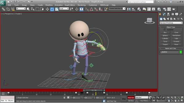 Animating pose-to-pose transitions: Character Animation: 3ds Max