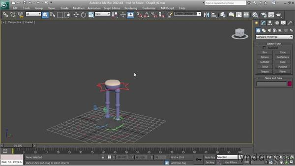 Setting up a character for a basic walk: Character Animation: 3ds Max