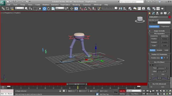 Animating a walk: making the cycle symmetrical: Character Animation: 3ds Max