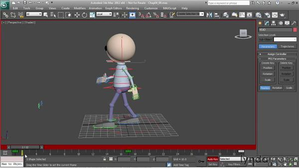Animating a walk: the head: Character Animation: 3ds Max