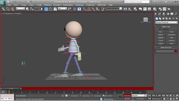 Changing a walk using poses: Character Animation: 3ds Max