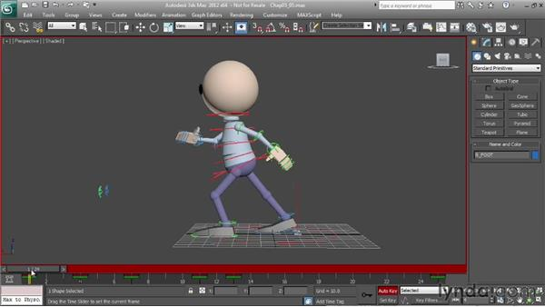 Exaggerating a walk: the cushion position: Character Animation: 3ds Max