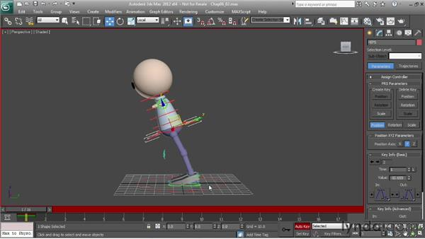 Animating a run: the passing pose: Character Animation: 3ds Max