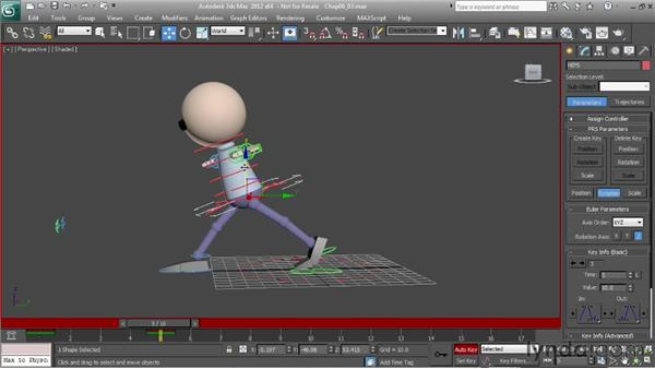 Animating a run: the extended pose: Character Animation: 3ds Max