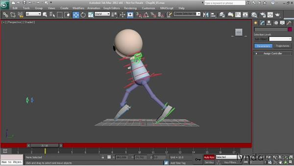 Animating a run: adding weight: Character Animation: 3ds Max