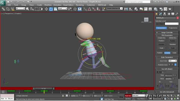 Animating a run: the spine: Character Animation: 3ds Max