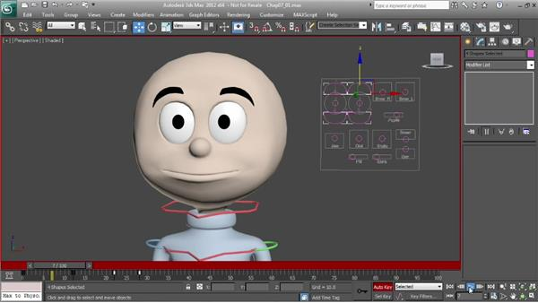 Animating blinks: Character Animation: 3ds Max