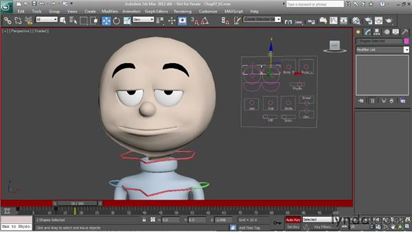 Animating changes in eye direction: Character Animation: 3ds Max