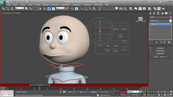 Animating a head turn: Character Animation: 3ds Max
