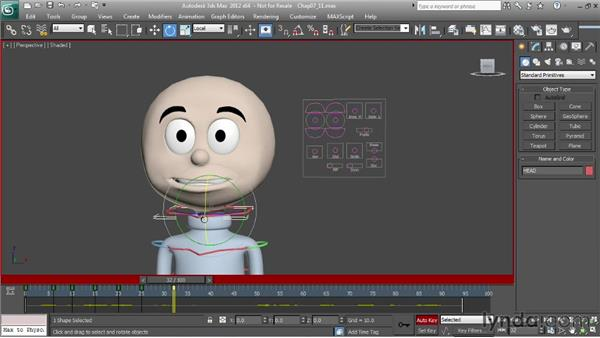 Animating lip sync: head motion: Character Animation: 3ds Max