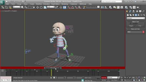 Adjusting head motion: Character Animation: 3ds Max