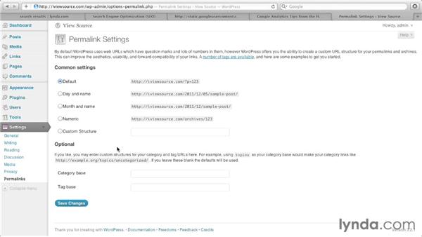 001 Creating a custom URL in WordPress: View Source