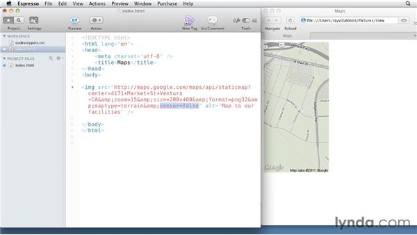 008 Working with the Google Maps API: View Source