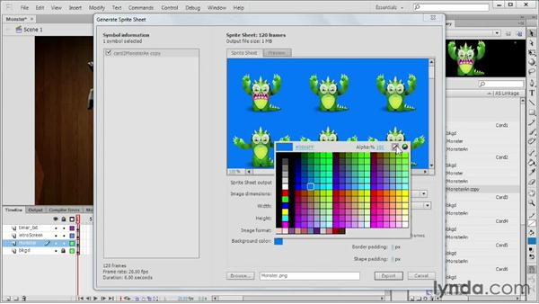 Generating sprite sheets from the library: Flash Professional CS6 New Features