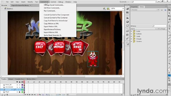 Using JSAPIs for exporting a PNG sequence: Flash Professional CS6 New Features