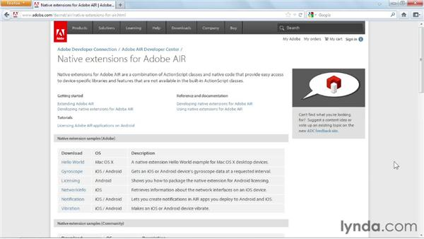 Exploring support for native extensions: Flash Professional CS6 New Features