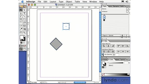 working with objects: Learning InDesign 2