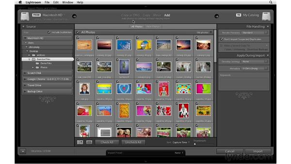 Importing images into a catalog: Lightroom 4 Catalogs in Depth