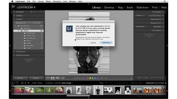 Optimizing catalogs: Lightroom 4 Catalogs in Depth