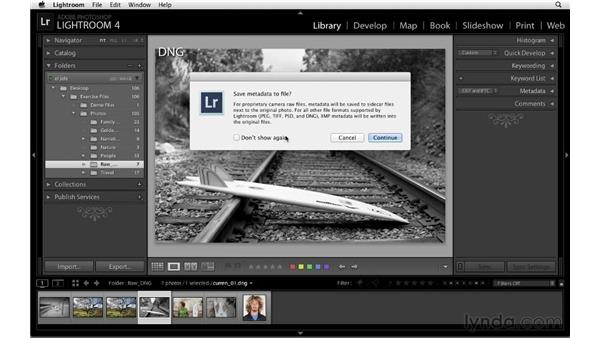 Saving adjustments to DNG, TIFF, PSD, and JPEG files: Lightroom 4 Catalogs in Depth