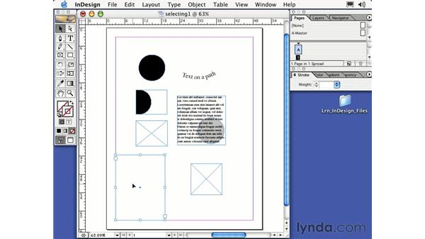 frame tools: Learning InDesign 2