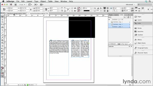Linking objects: InDesign CS6 New Features