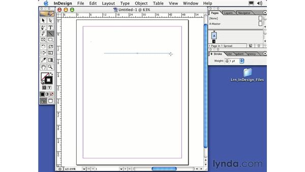 the line tool: Learning InDesign 2