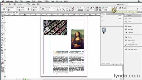 Applying guide-based Liquid Layout rules: InDesign CS6 New Features