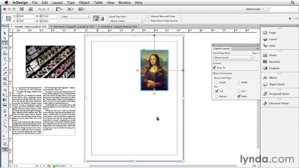 Applying object-based Liquid Layout rules: InDesign CS6 New Features