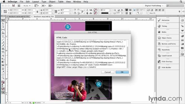 Inserting HTML and Edge content: InDesign CS6 New Features