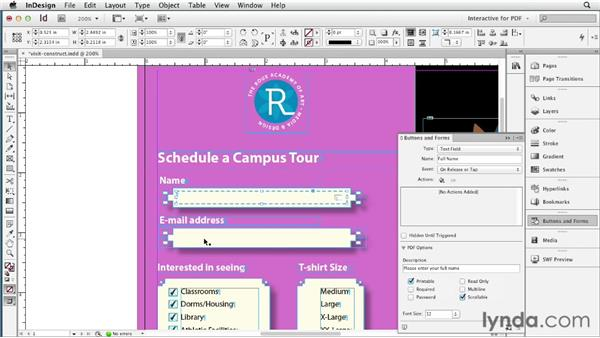Creating and previewing a basic form: InDesign CS6 New Features