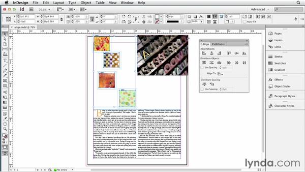 Aligning selections to a key object: InDesign CS6 New Features