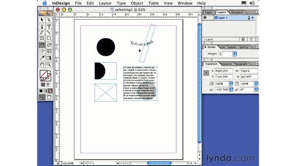 the rotate tool: Learning InDesign 2