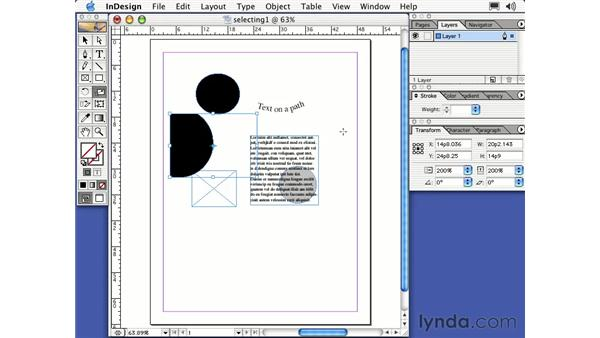 the scale tool: Learning InDesign 2