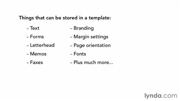 Understanding template fundamentals: Building Templates in Word